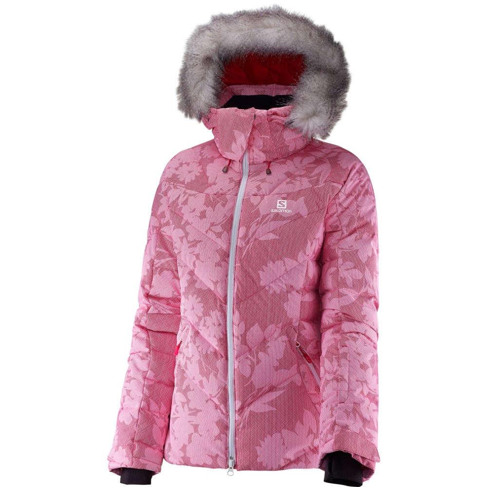 サロモン レディース スキー・スノーボード アウター【Icetown + Ski Jacket】Gaura Pink