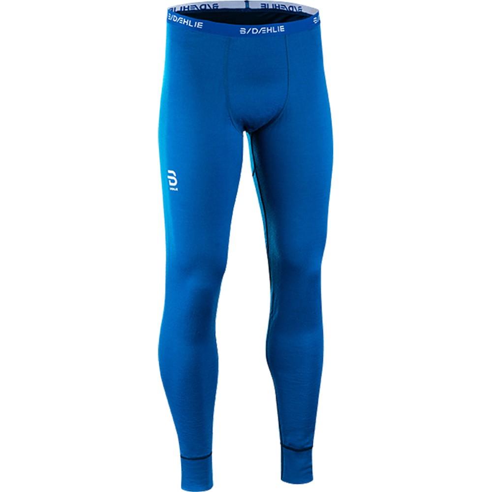 ビョルン ダーリ メンズ スキー・スノーボード ボトムス・パンツ【TrainingWool Baselayer Pants 2018】Blue/ Black