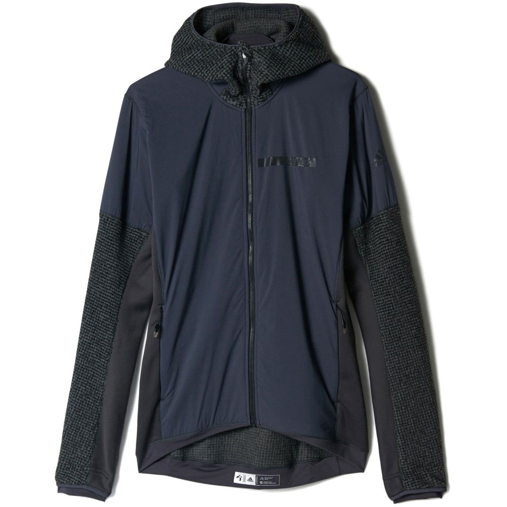 アディダス メンズ トップス フリース【Terrex Climaheat Techrock Hooded Fleece】D G H Solid Grey