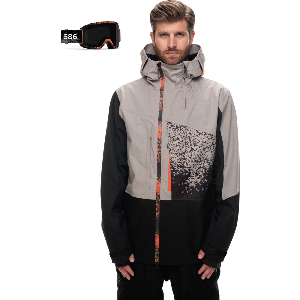 シックス エイト シックス メンズ スキー・スノーボード アウター【Smith Squad Snowboard Jacket 2018】Lt Grey