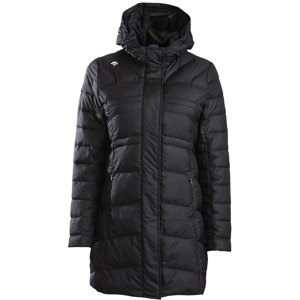 デサント レディース スキー・スノーボード アウター【Element Long Down Ski Jacket】Black Print