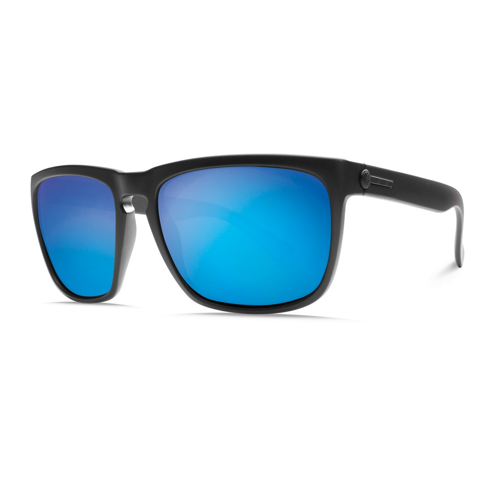 エレクトリック メンズ メガネ・サングラス【Knoxville XL Sunglasses】Matte Black/ M Grey Blue Chrome Lens