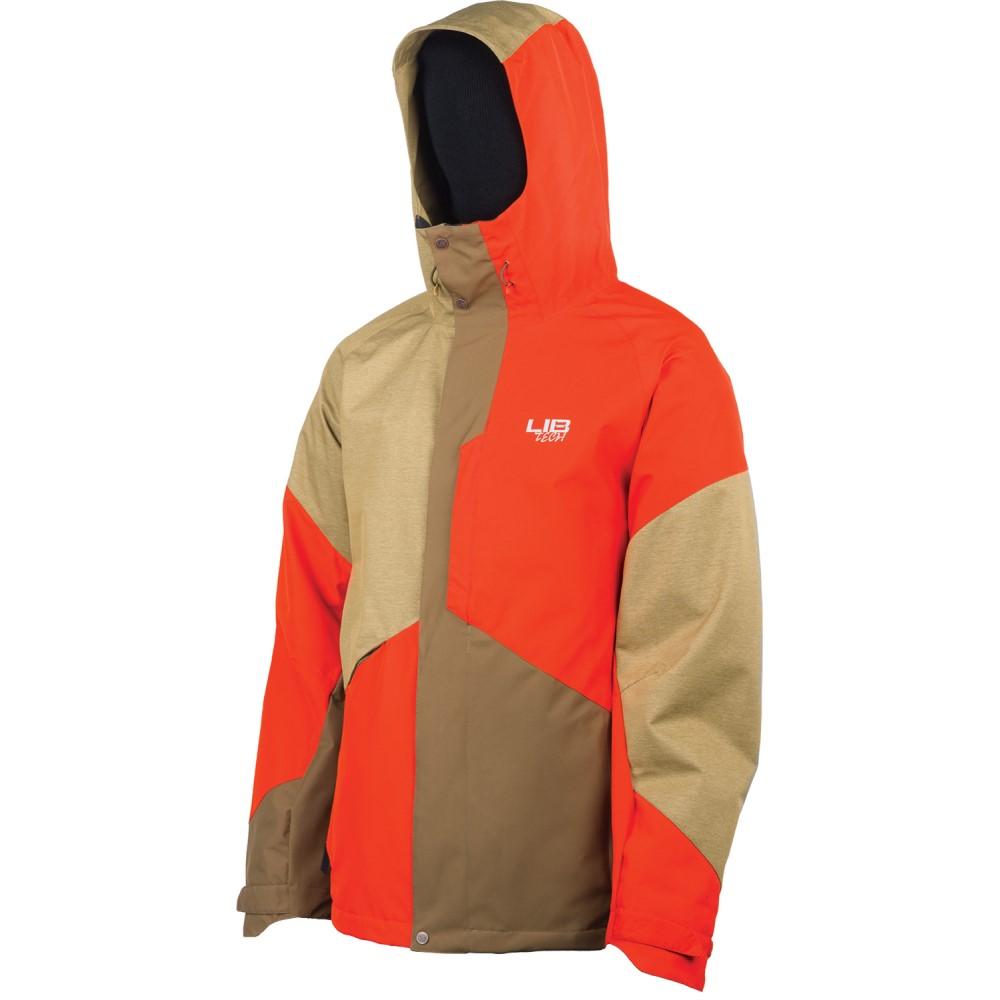 リブテック メンズ スキー・スノーボード アウター【Recycler Snowboard Jacket】Desert Brown/ Tomato Red/ Dirt Brown