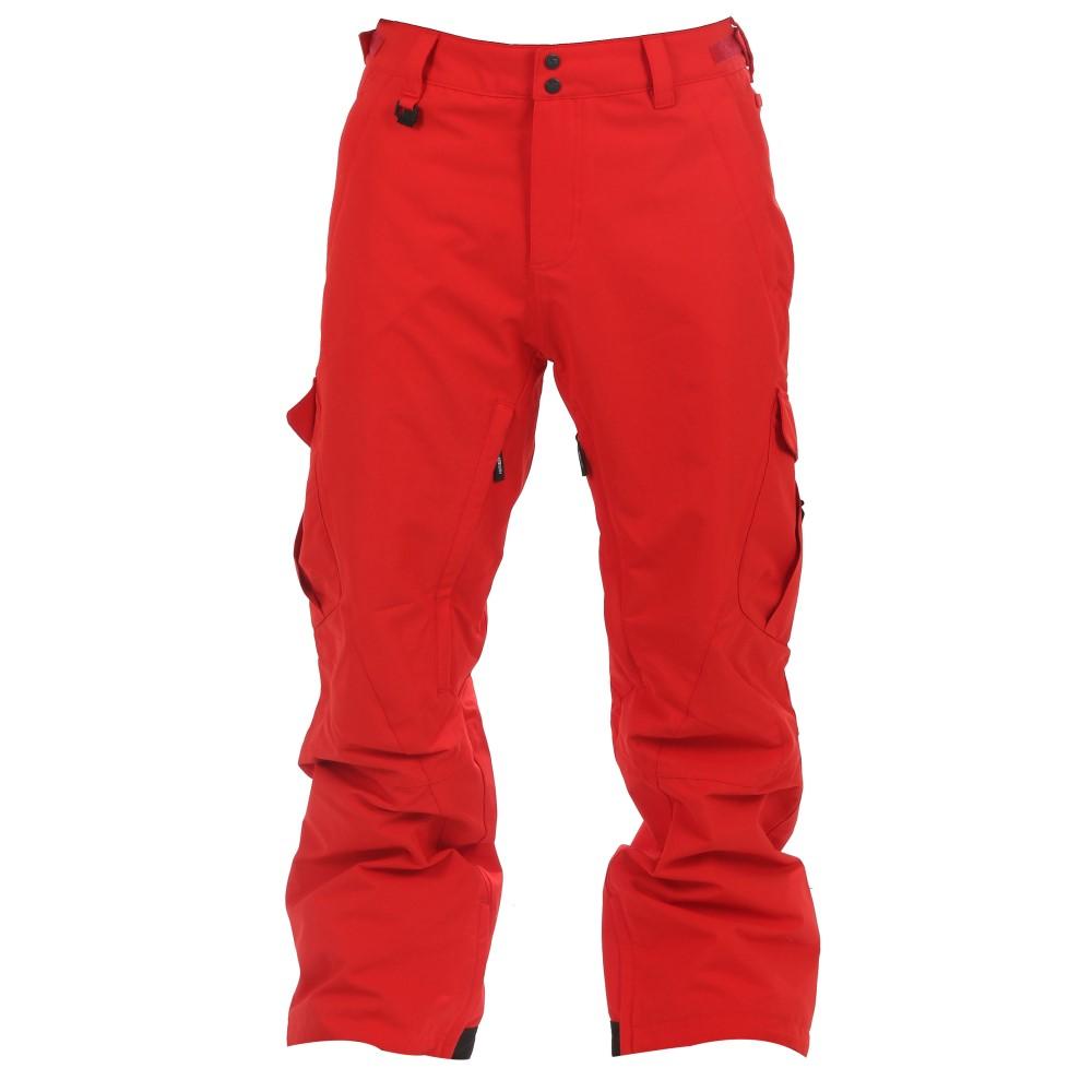 リブテック メンズ スキー・スノーボード ボトムス・パンツ【Go Car Snowboard Pants】Red Oxford
