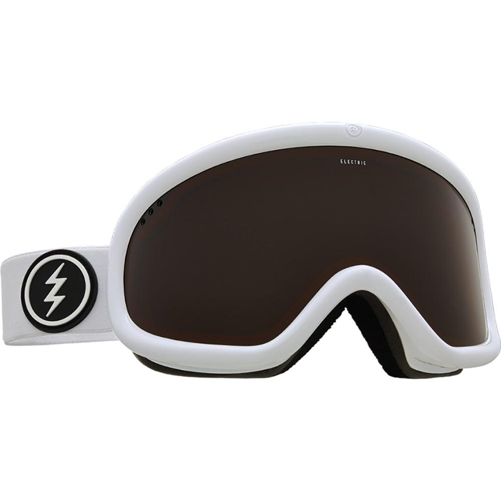 エレクトリック メンズ スキー・スノーボード ゴーグル【Charger Goggles 2018】Gloss White/ Brose Lens