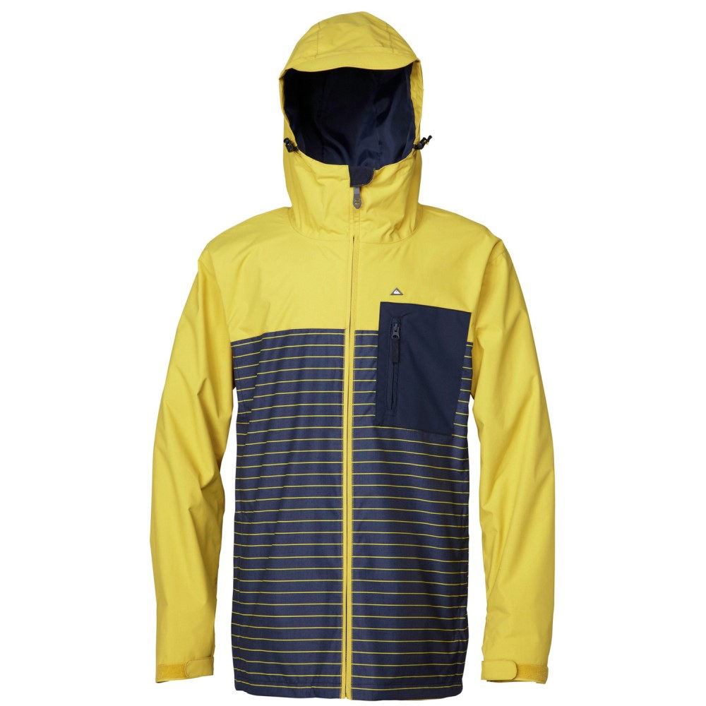 クイックシルバー メンズ スキー・スノーボード アウター【Show All Snowboard Jacket】Oil Yellow/ Total Eclipse/ Total Eclipse