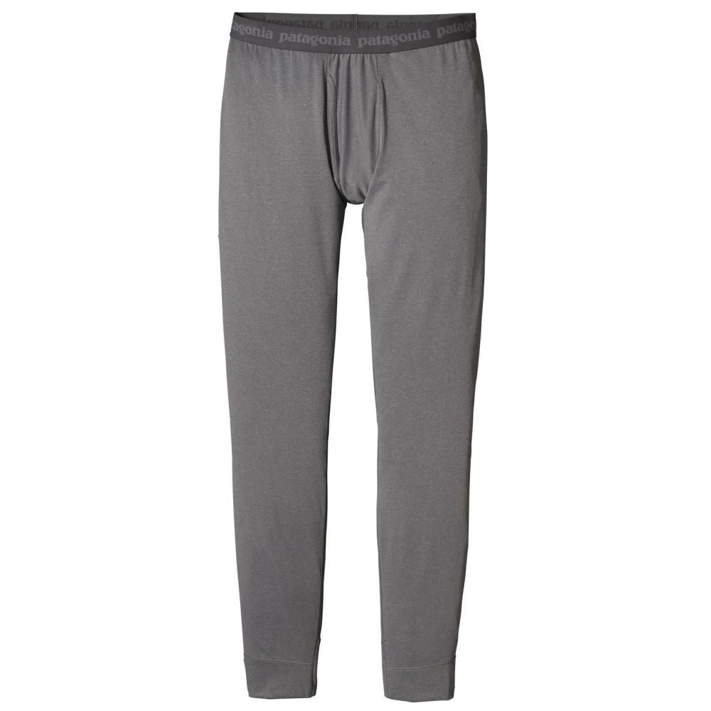 パタゴニア メンズ スキー・スノーボード ボトムス・パンツ【Capilene Midweight Baselayer Bottoms】Forge Grey/ Feather Grey X- Dye