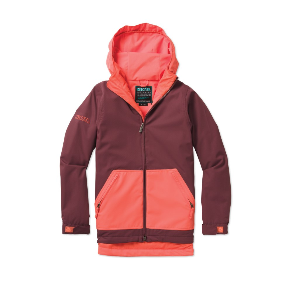 ニキータ レディース スキー・スノーボード アウター【Diptail Snowboard Jacket】Nasturtium/ Wine