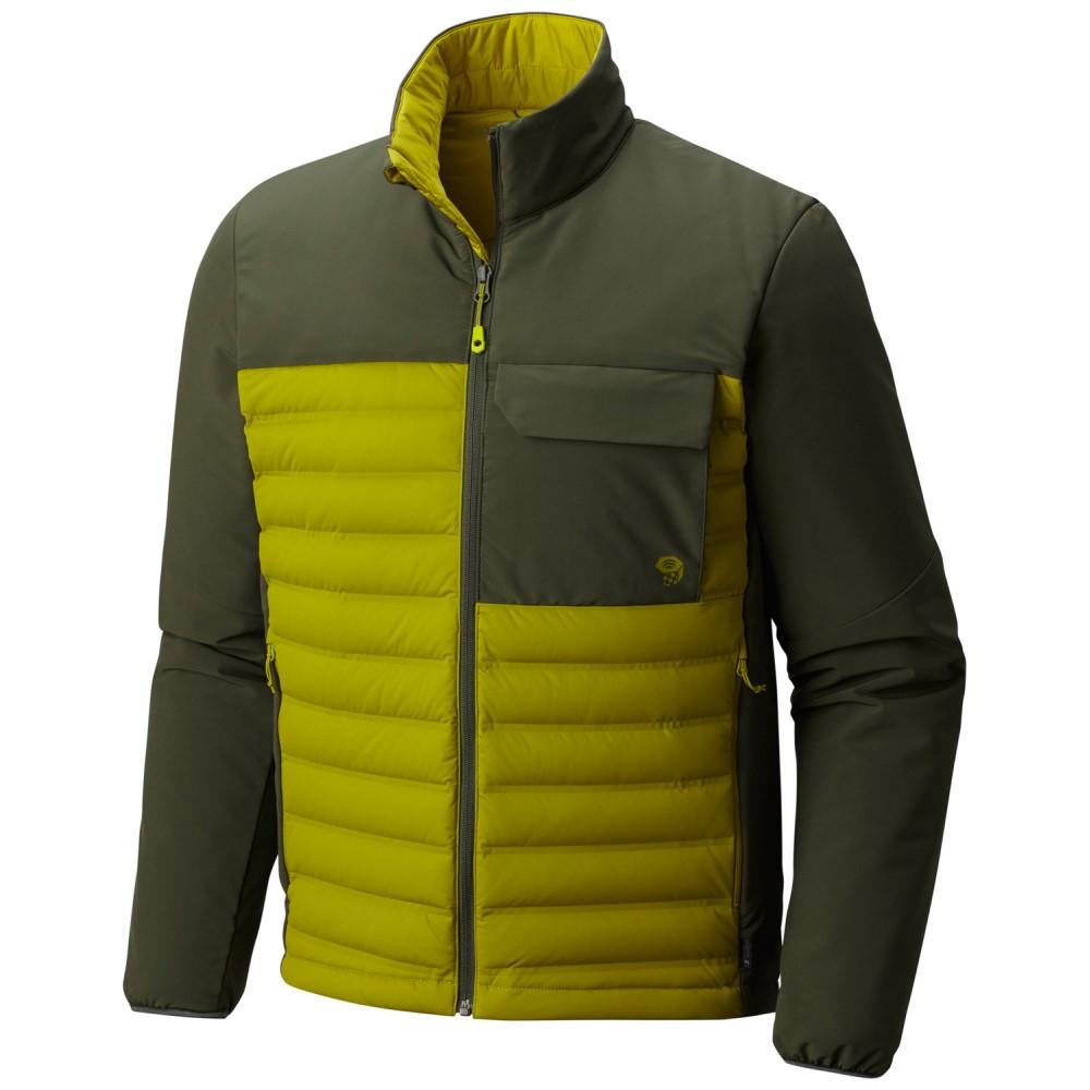 マウンテンハードウェア メンズ アウター ダウン・中綿ジャケット【StretchDown HD Jacket】Python Green/ Surplus Green