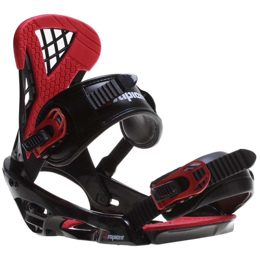 サピエント メンズ スキー・スノーボード ビンディング【Wisdom Snowboard Bindings】Black/ Red