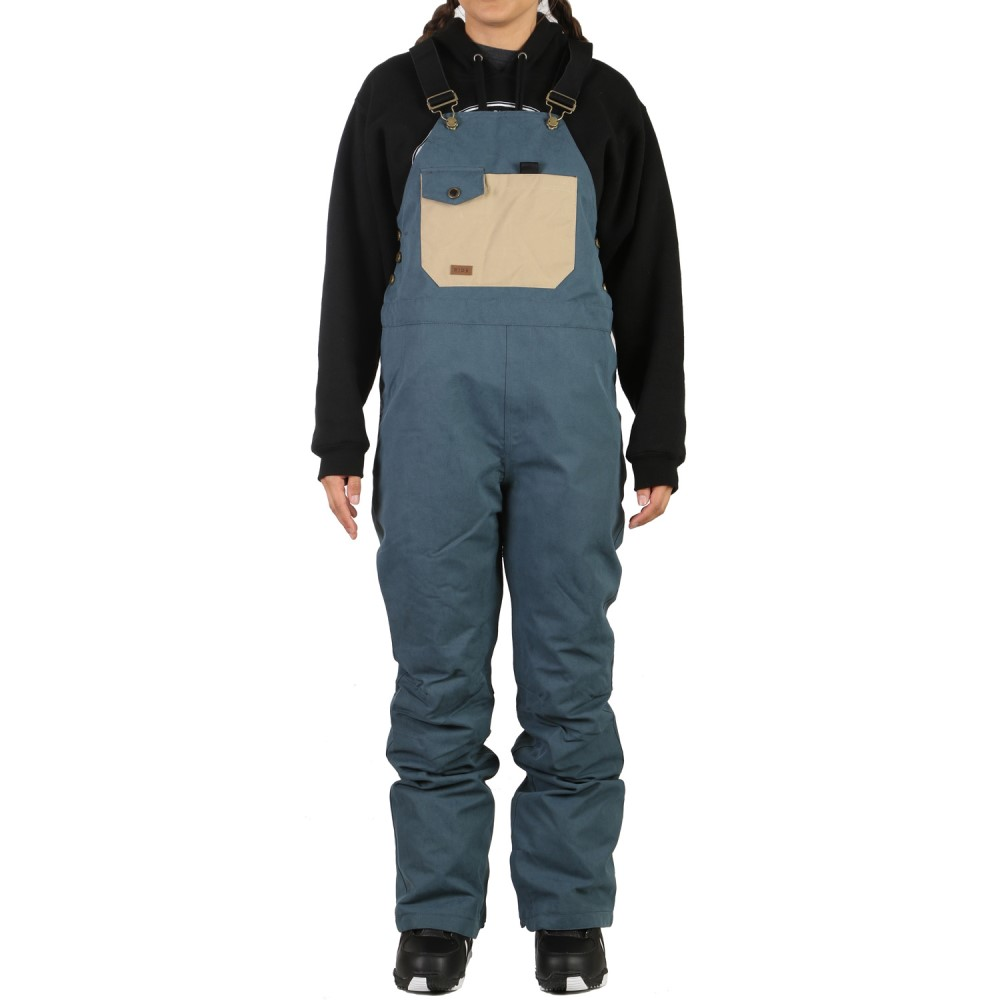 ライド レディース スキー・スノーボード ボトムス・パンツ【Emerald Bib Snowboard Pants 2018】Indigo Wash Out