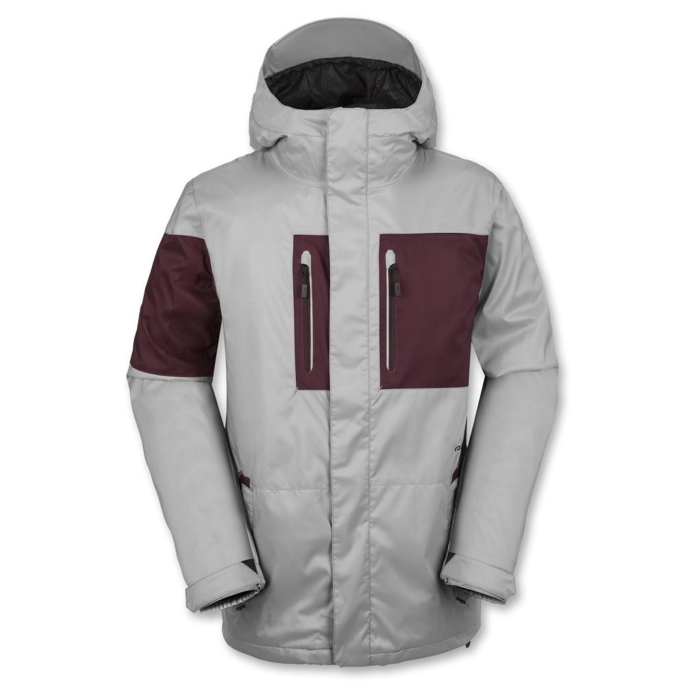 ボルコム メンズ スキー・スノーボード アウター【Half Square Snowboard Jacket】Grey