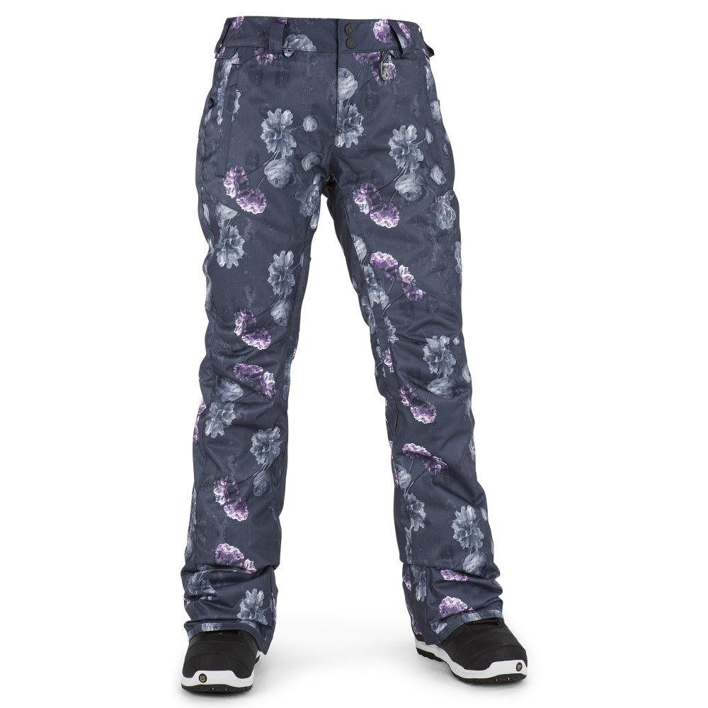 ボルコム レディース スキー・スノーボード ボトムス・パンツ【Birch Insulated Snowboard Pants】Peony Print/ Dark Grey