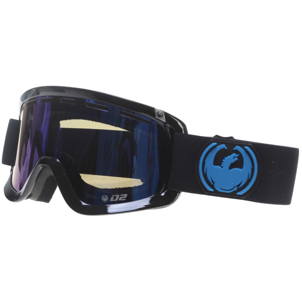ドラゴン メンズ スキー・スノーボード ゴーグル【D2 Goggles】Jet/ Dark Smoke Blue And Yellow Red Ion Lens