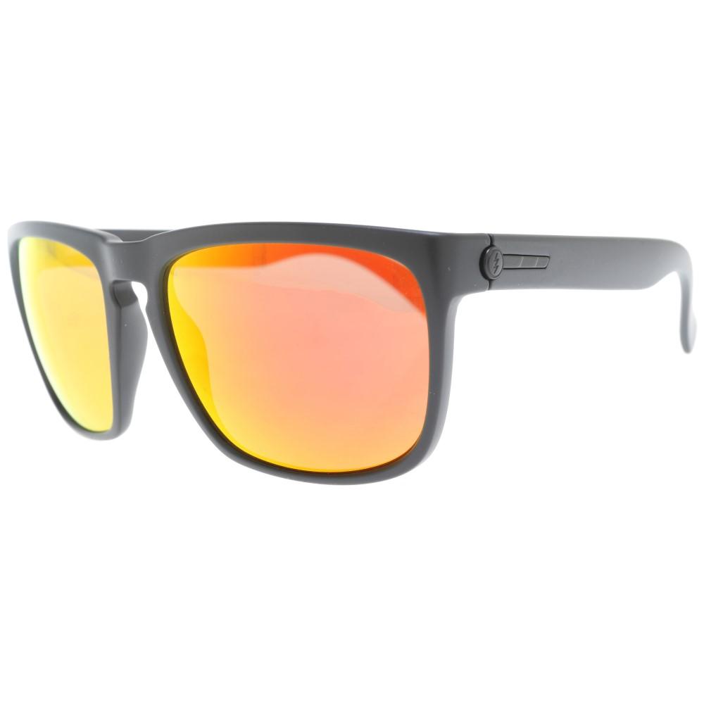 エレクトリック メンズ メガネ・サングラス【Knoxville Sunglasses】Matte Black/ M Grey Fire Chrome Lens