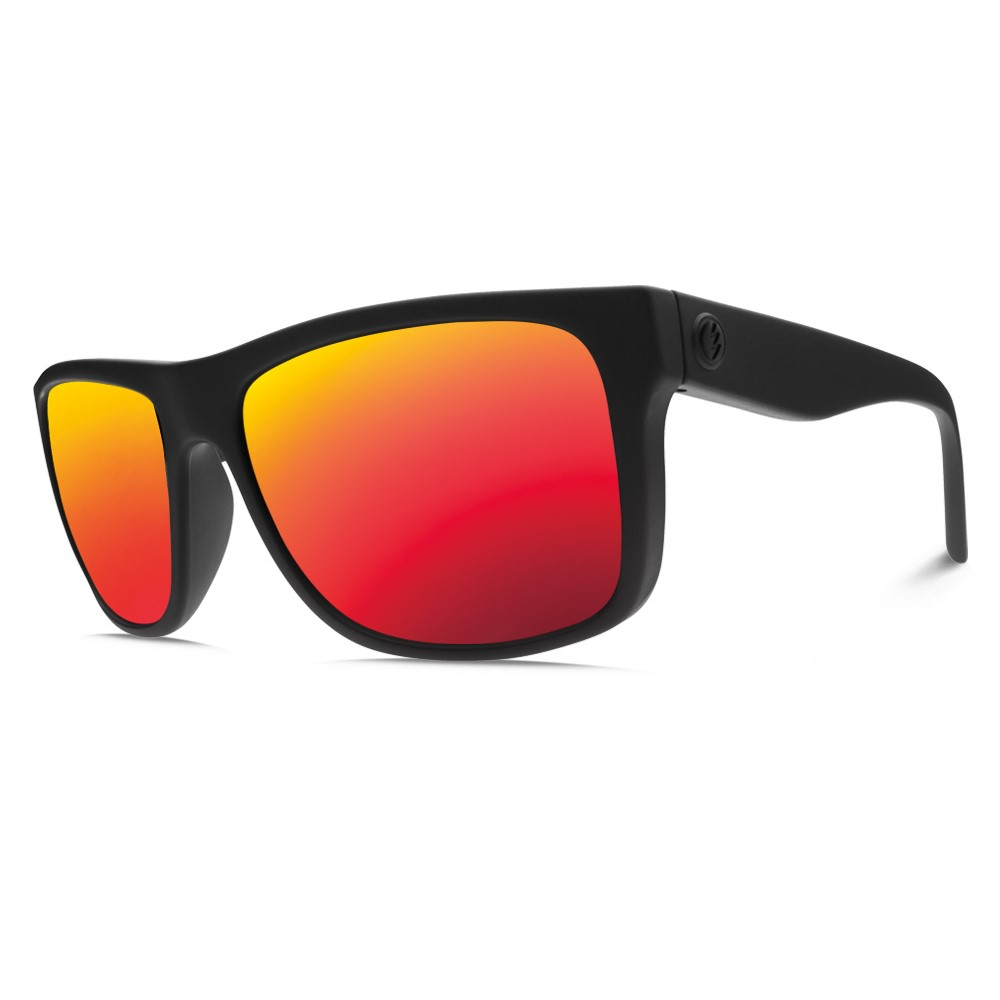 エレクトリック メンズ メガネ・サングラス【Swingarm Sunglasses】Matte Black/ M Grey Fire Chrome Lens