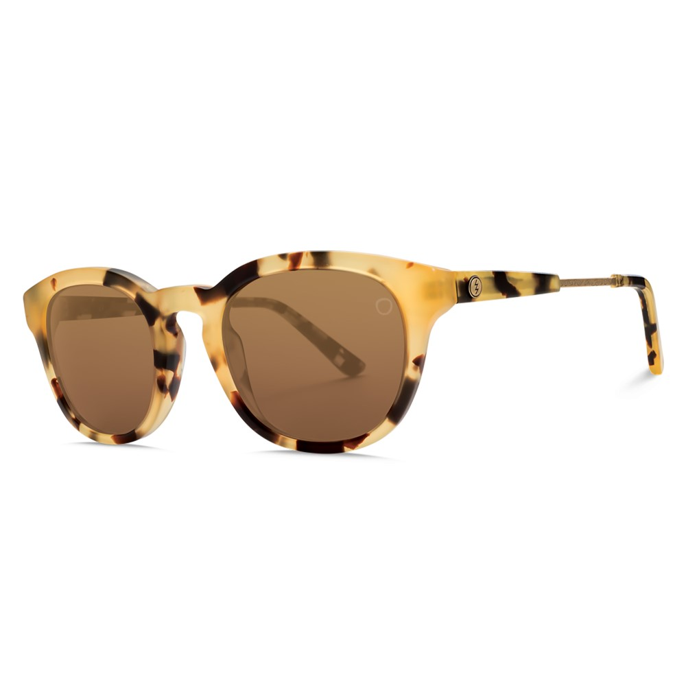 エレクトリック レディース メガネ・サングラス【Txoko Sunglasses】Matte Spotted Tort/ M Bronze Lens