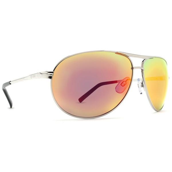 ドットダッシュ メンズ メガネ・サングラス【Buford T Sunglasses】Silver/ Red Chrome Lens