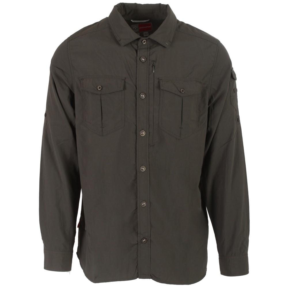 クラッグホッパーズ メンズ トップス【Nat Geo Nosilife Adventure L/S Shirt】Dark Khaki