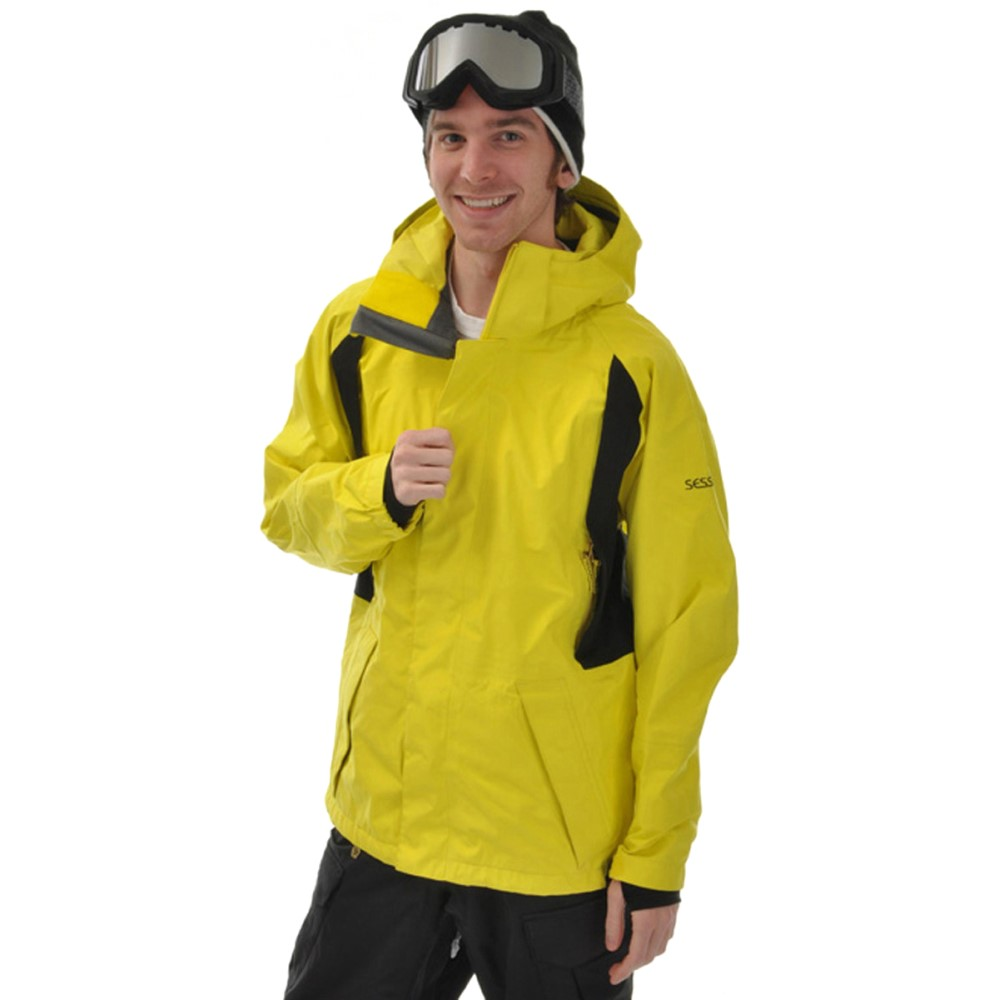 『2年保証』 セッションズ Gore-Tex メンズ スキー・スノーボード アウター Snowboard【Shane Mcconckey Mcconckey Gore-Tex Snowboard Jacket】Citron/ Black, 有家町:bd270522 --- zaovegas.ru