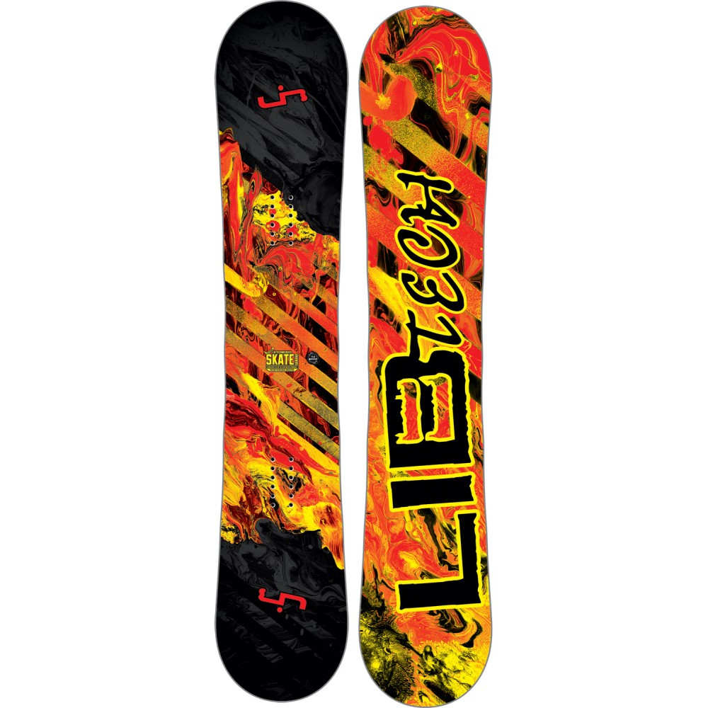 リブテック メンズ スキー・スノーボード ボード・板【Skate Banana Wide Snowboard】Red