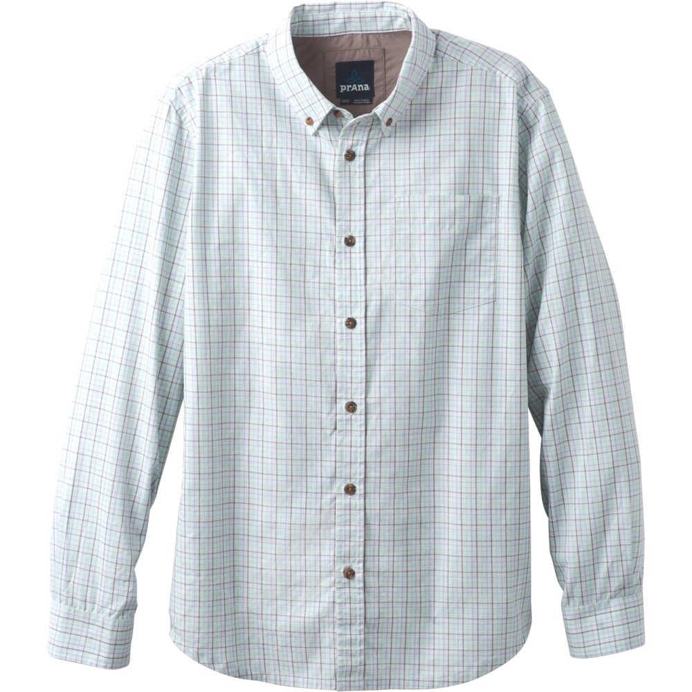 プラーナ メンズ トップス【Broderick Check L/S Shirt】Succulent Green