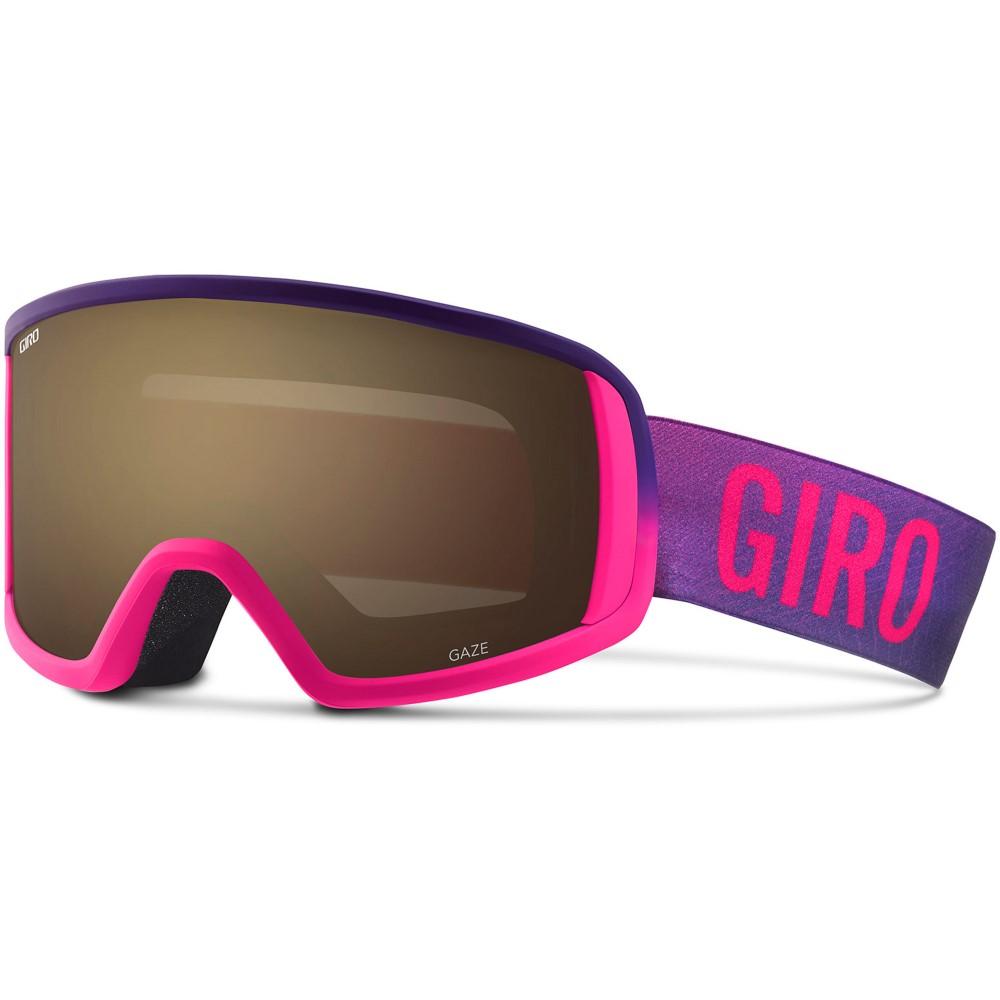ジロ レディース スキー・スノーボード ゴーグル【Gaze Goggles 2018】Bright Pink Faded/ Amber Rose Lens