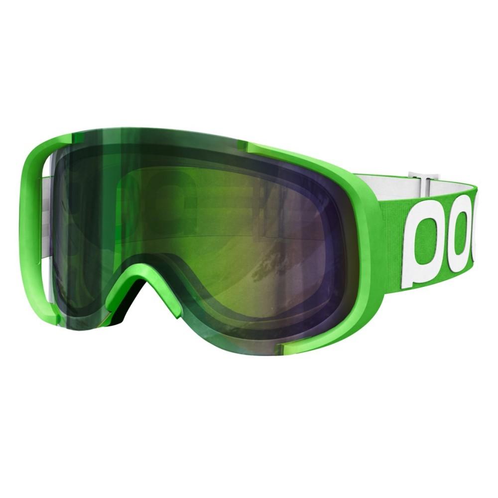ピーオーシー メンズ スキー・スノーボード ゴーグル【Cornea Goggles】Iodine Green/ Persimmon/ Green Mirror Lens