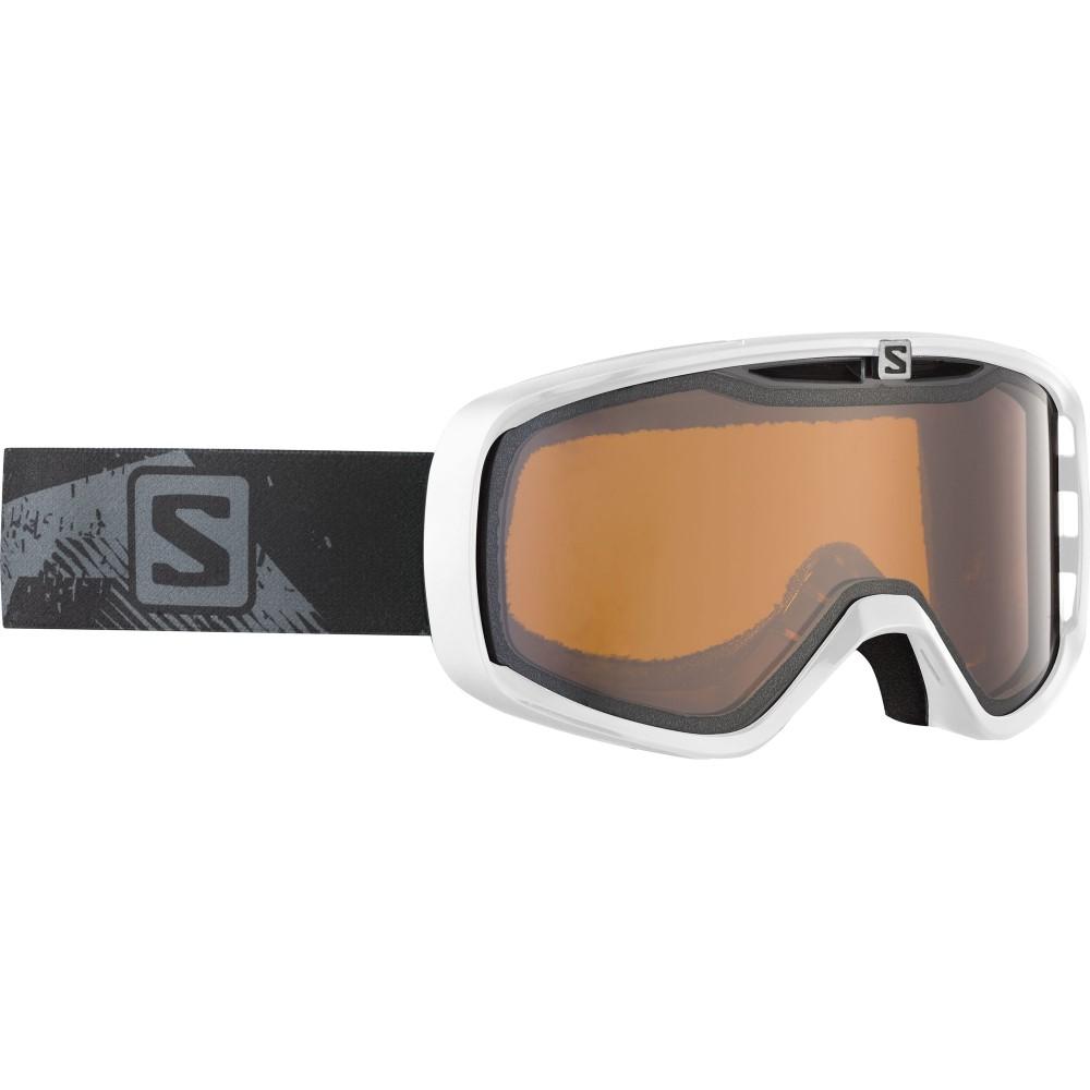サロモン メンズ スキー・スノーボード ゴーグル【Aksium Goggles】White/ Orange Standard Lens