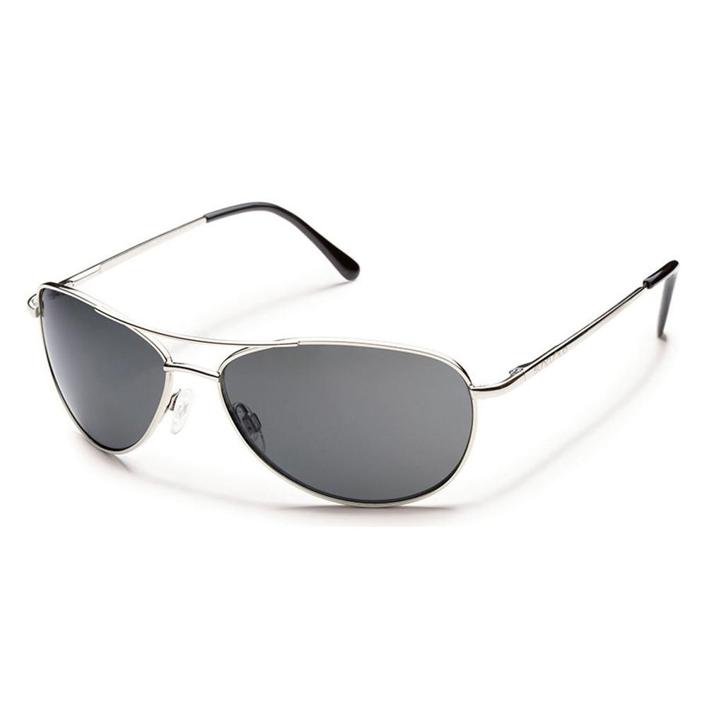 サンクラウド メンズ メガネ・サングラス【Patrol Sunglasses】Silver/ Gray Polarized Polycarbonate Lens