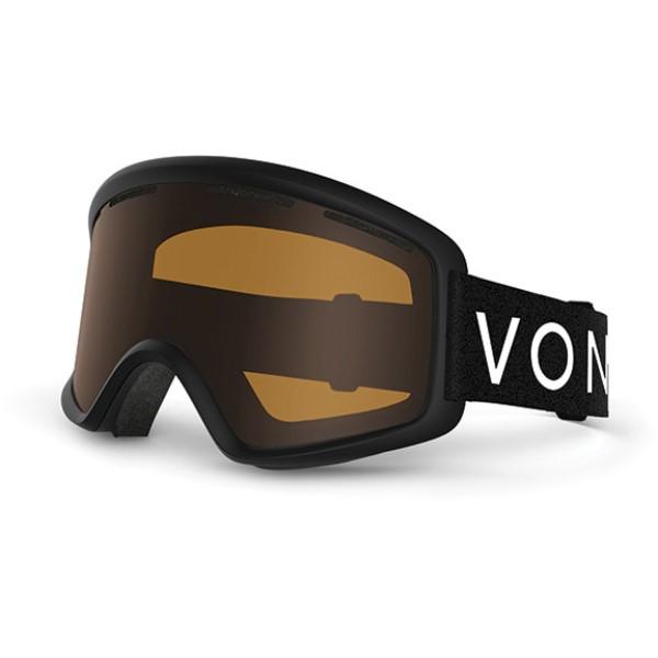 ボンジッパー メンズ スキー・スノーボード ゴーグル【Beefy Goggles 2018】Black Satin/ Bronze Lens