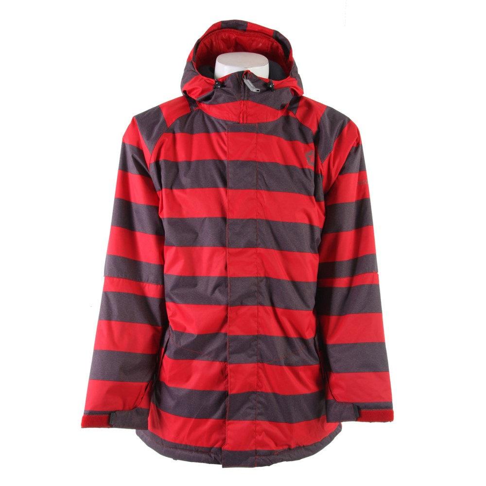 セッションズ メンズ スキー・スノーボード アウター【Kreuger Heather Stripe Snowboard Jacket】Red Heather Stripe