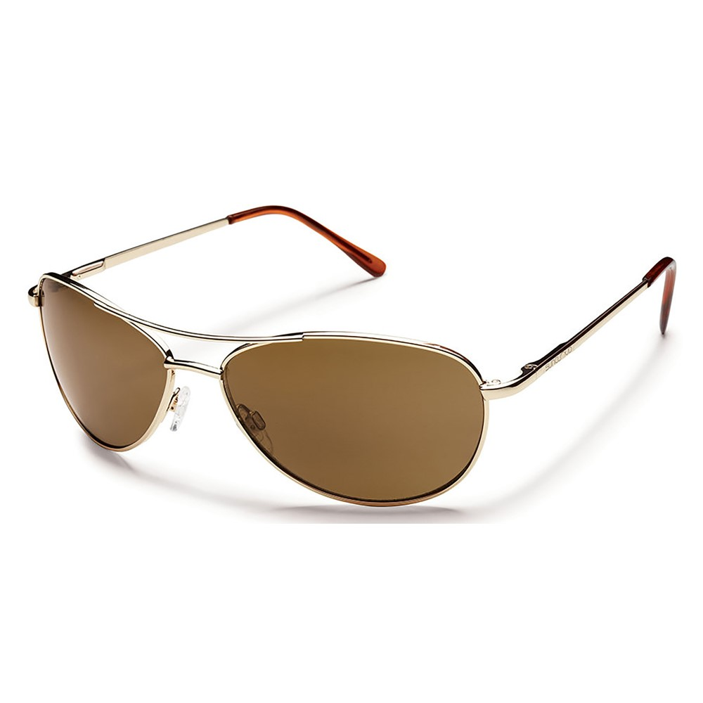 サンクラウド メンズ メガネ・サングラス【Patrol Sunglasses】Gold/ Brown Polarized Polycarbonate Lens