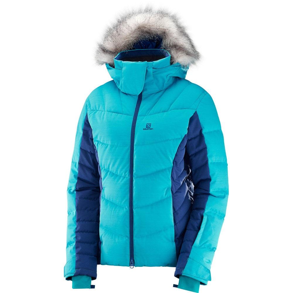 サロモン レディース スキー・スノーボード アウター【Icetown Ski Jacket 2018】Blue Bird/ Medieval Blue