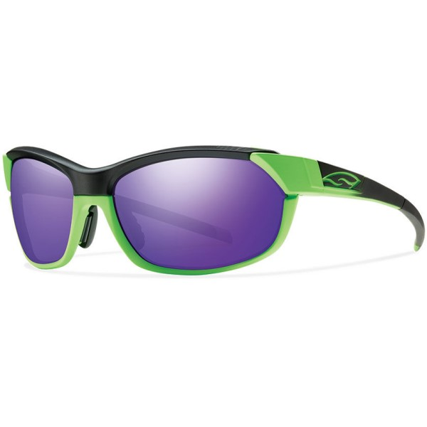 スミス メンズ メガネ・サングラス【Pivlock Overdrive Sunglasses】Reactor Green/ Purple Sol- X Mirror Lens