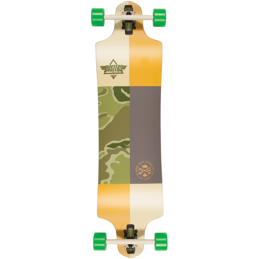 デュスターズ ユニセックス スケートボード ボード・板【Scout Longboard Complete】Kryptonics Green