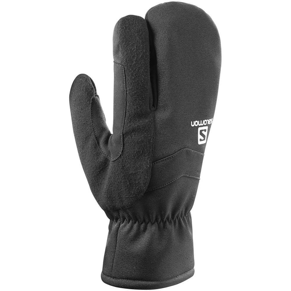フジオカシ サロモン ユニセックス スキー・スノーボード グローブ【RS Warm 2018】Black/ Warm 3 Fingers Fingers U XC Ski Mittens 2018】Black/ White, 売木村:a4f1da6a --- konecti.dominiotemporario.com