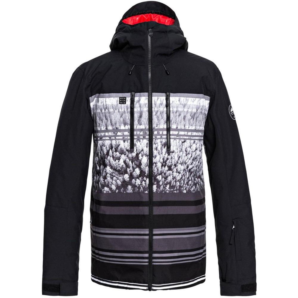 クイックシルバー メンズ スキー・スノーボード アウター【Mission Block Engineered Snowboard Jacket 2019】Black Alpin