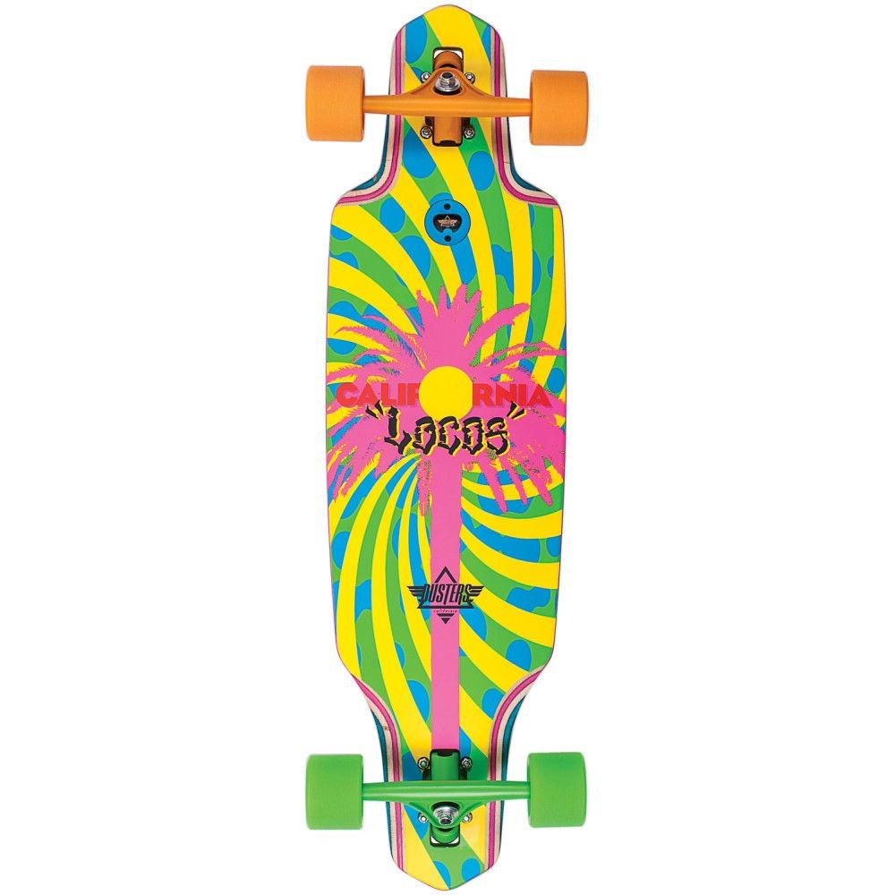デュスターズ ユニセックス スケートボード ボード・板【California Locos Longboard Complete】Green/ Yellow