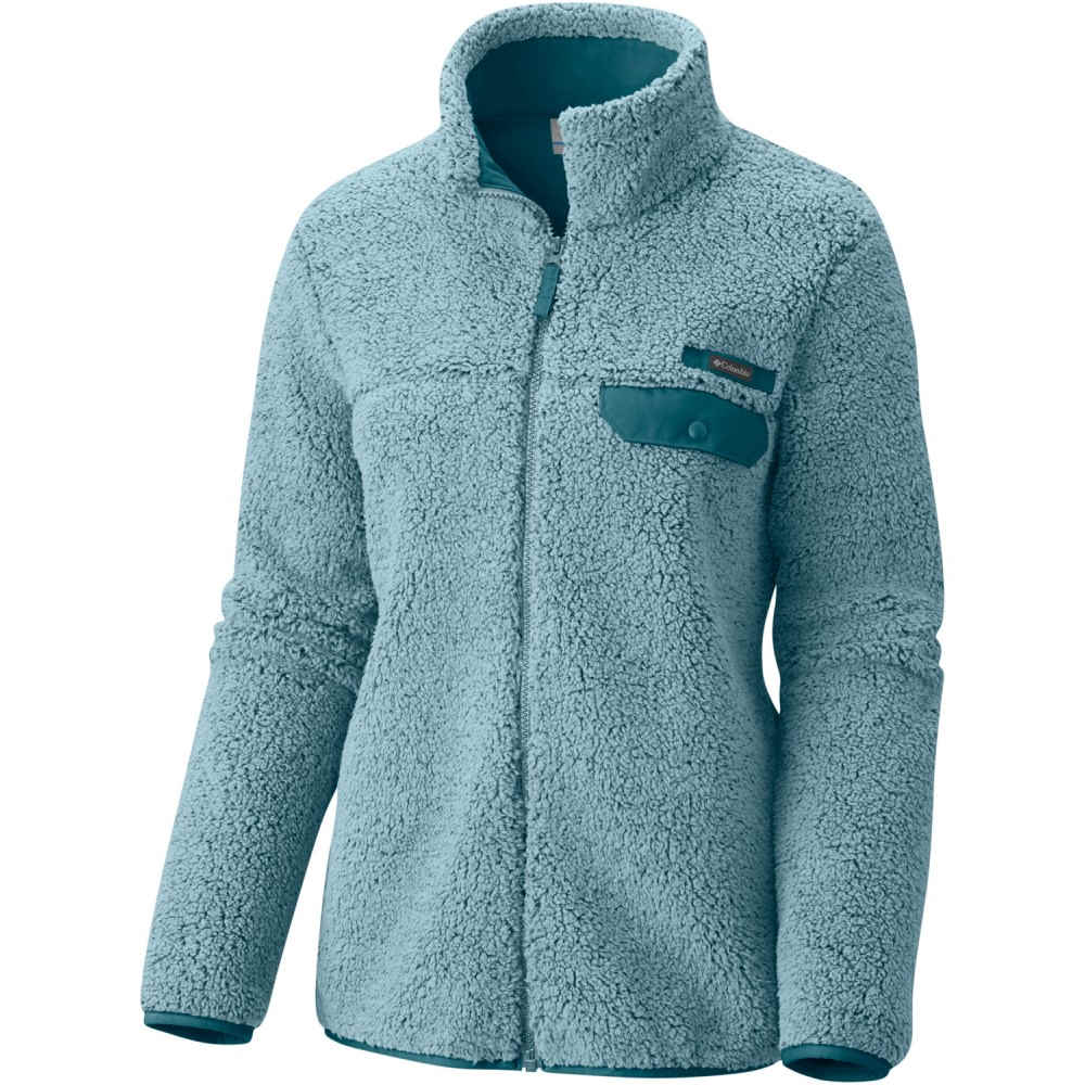 コロンビア レディース トップス フリース【Mountain Side Heavyweight Full-Zip Fleece】Stone Blue/ Cloudburst