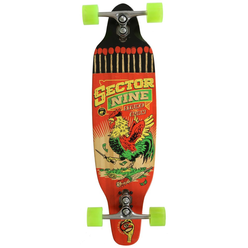 セクターナイン ユニセックス スケートボード ボード・板【Striker Cruiser Complete】Red