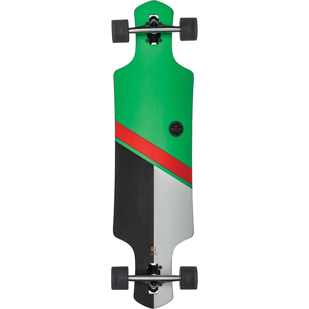 グローブ ユニセックス スケートボード ボード・板【Geminon 38.5 Longboard Complete】Green/ Red