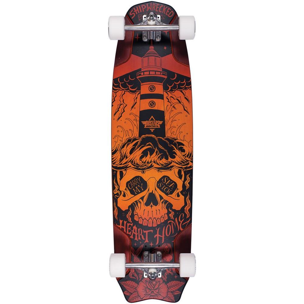 デュスターズ ユニセックス スケートボード ボード・板【Bones Longboard Complete】Sunburst