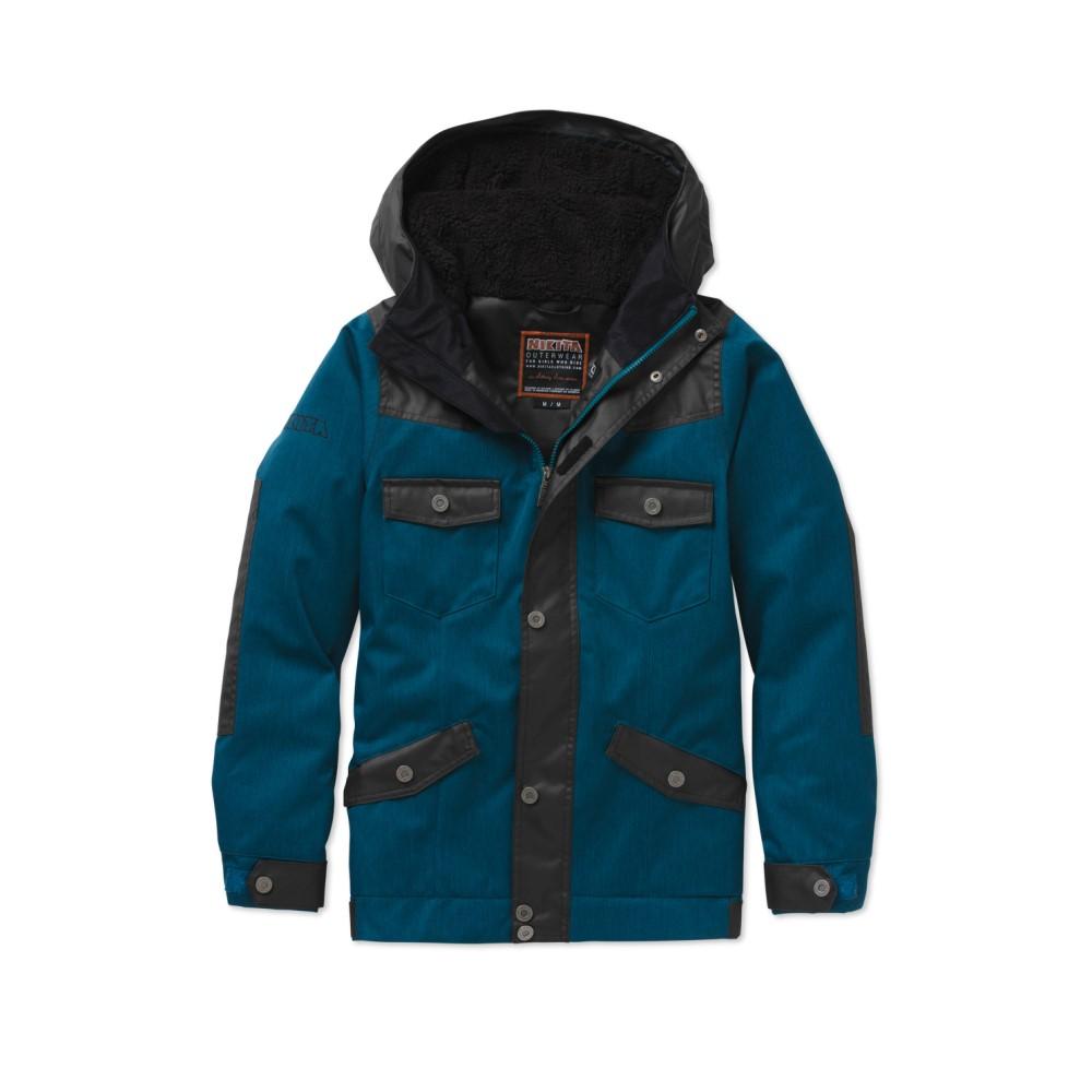 ニキータ レディース スキー・スノーボード アウター【Mayon Denim/Waxed Snowboard Jacket】Moroccan Blue/ Jet Black
