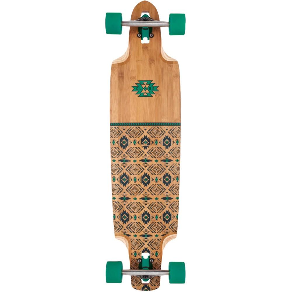 グローブ ユニセックス スケートボード ボード・板【Spearpoint Bamboo Longboard Complete】Bamboo/ Green