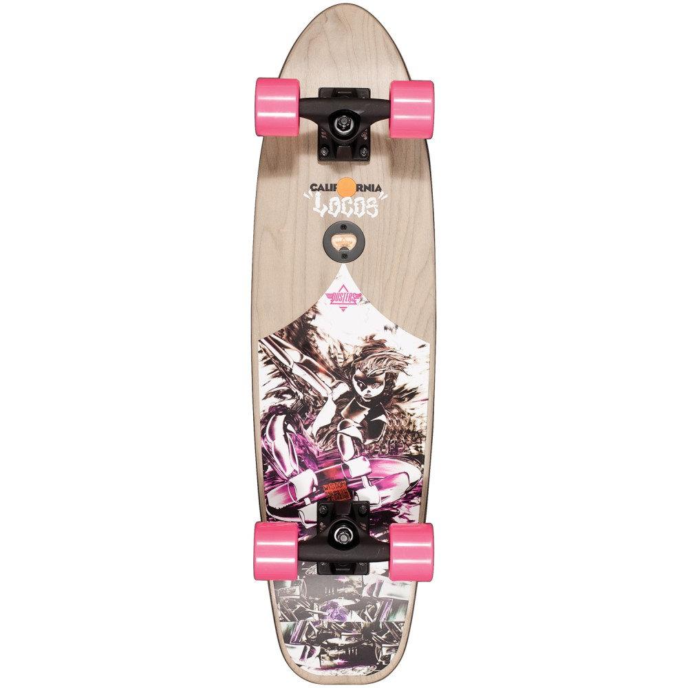 デュスターズ ユニセックス スケートボード ボード・板【California Locos Wisdom Cruiser Complete】Pink