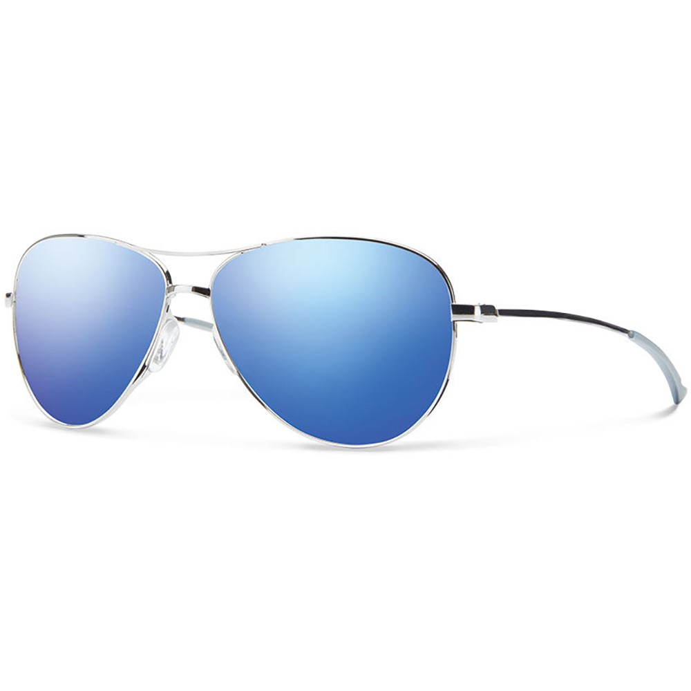 スミス メンズ スポーツサングラス【Langley Sunglasses】Silver/ Blue Flash Mirror Lens