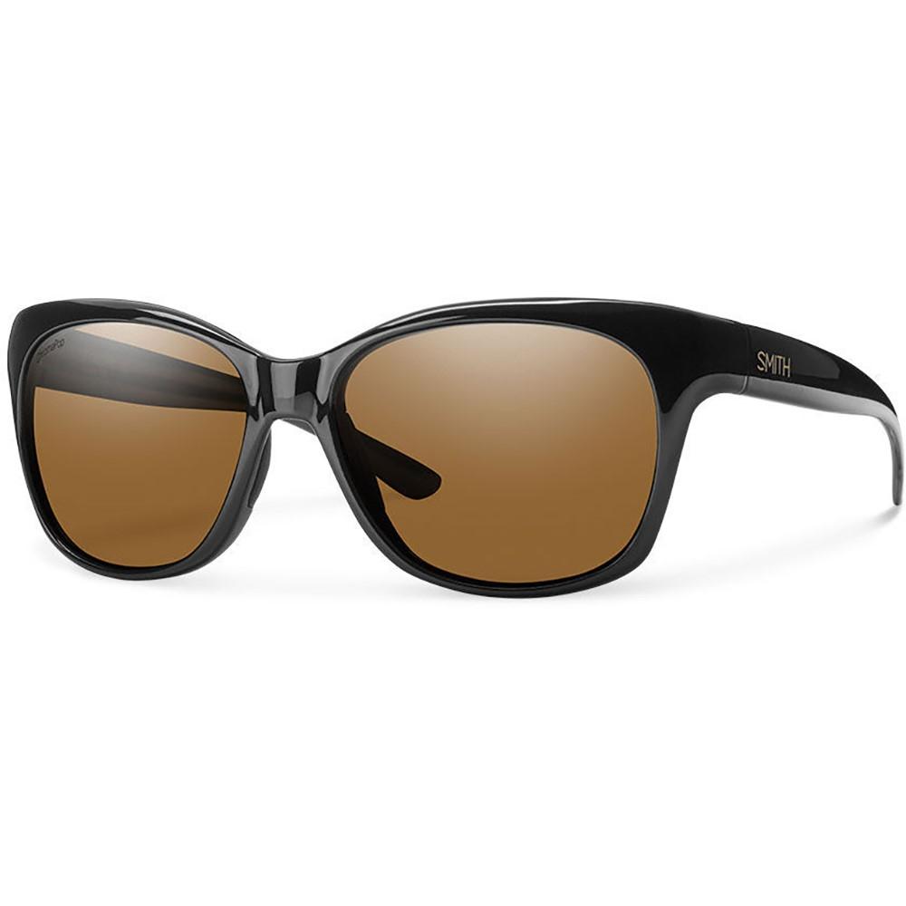 スミス レディース メガネ・サングラス【Feature Sunglasses】Black/ Chroma Pop Polarized Brown Lens