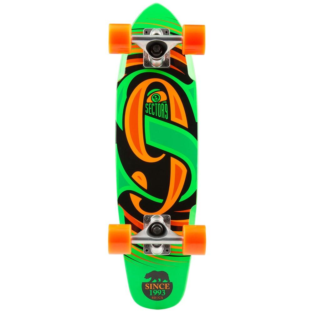 セクターナイン ユニセックス スケートボード ボード・板【Steady Cruiser Complete】Green/ Orange