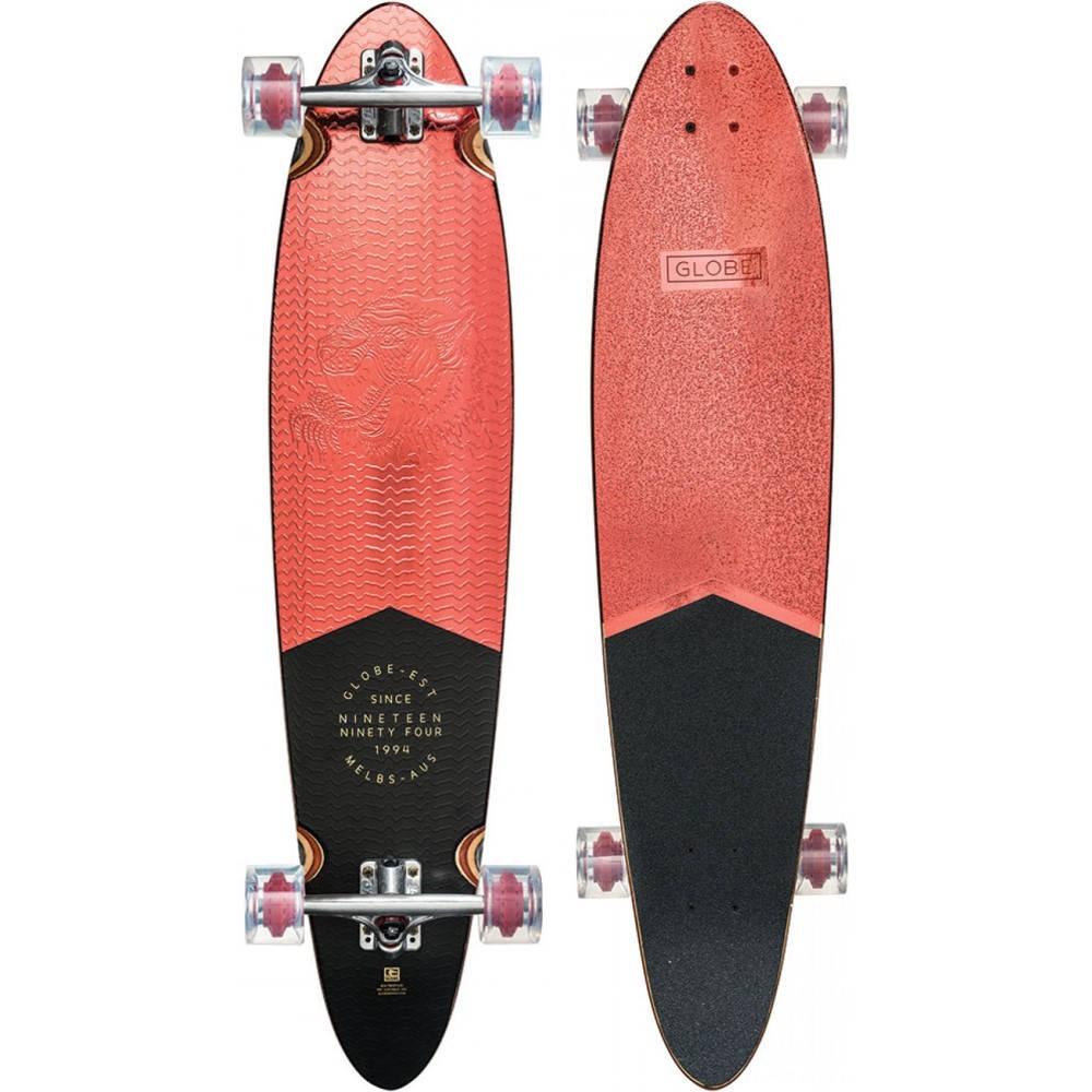 グローブ ユニセックス スケートボード ボード・板【Pinner Classic Longboard Complete】Red Foil